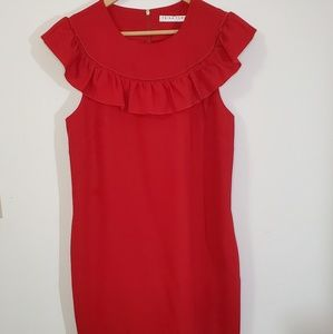 Trina Turk Red Shift Dress